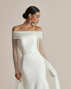 """Justin Alexander on Instagram: """"Elevated yet uncomplicated in #Style_Celeste, this stretch Mikado wedding dress was designed with a modern straight neckline and subtle…"""""""