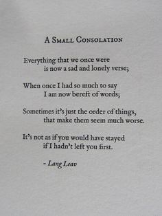 A small consolation