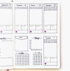 Obsessed with page! Do yourself a favor and check out her feed for some great ideas Planner Pages, Weekly Planner, Life Planner, College Problems, Bullet Journal Junkies, Bullet Journal Layout, Bullet Journals, Bujo, Student Planner