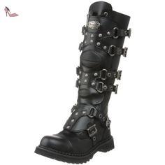 Demonia , bottes homme - Noir - noir, 4 US - Chaussures demonia (*Partner-Link)