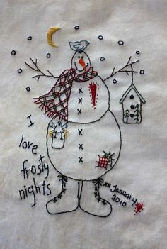 January-Snowman and others at atbquilting.wordpress.com