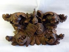 19th Century Carved Antique Oak Panel Depicting the Walpole Family Crest from Holt Antique Furniture Ltd