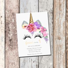 invitation party card