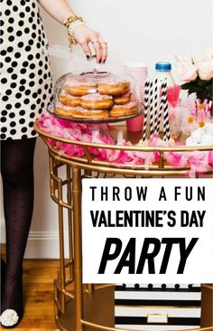 Want to throw a fun Valentine's Day Party? Here's what you need to get started! First, gather lots of pink things. You'll end up using them for décor, table centerpieces, party favors, you name it! Create a delicious menu and focus on sweets, of course! Use pink straws in your drinks and serve the food on vintage cake stands. Wear an adorable pink or red party dress. Read on for more great tips from eBay to make your Valentine's Day party extra fun!