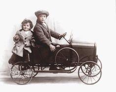 Children Displaying Pedal Car 1920s