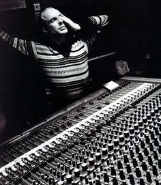 Brian Eno in Basing Street Studios, London, 1979 recording My Life in the Bush of Ghosts.