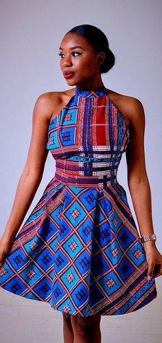 Design of a Diaspora SS15 Backbone Dress. Ankara | Dutch wax | Kente | Kitenge | Dashiki | African print bomber jacket | African fashion | Ankara bomber jacket | African prints | Nigerian style | Ghanaian fashion | Senegal fashion | Kenya fashion | Nigeri http://bellanblue.com