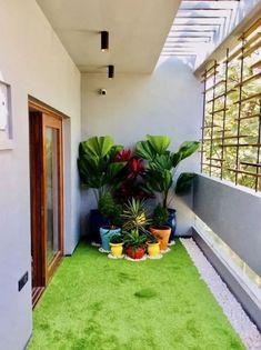 Apartment balconies, apartments, balcony design, garden design, farmhouse d Small Balcony Design, Small Balcony Garden, Small Balcony Decor, Small Garden Design, Balcony Ideas, Outdoor Balcony, Terrace Garden, Garden Plants, Balcony Gardening