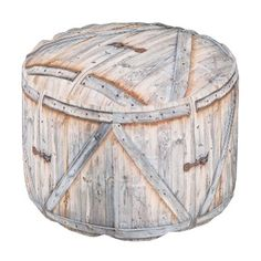 """Title : 313, Cabin, Old Barn Door Print Pouf  Description : Rustic, """"Cabin-Lodge"""", Animals, Wildlife, """"Accent-Pillows"""", """"Log-Cabin"""", """"Hunting-Lodge"""", """"Fall-Season"""", """"Tribal-Borders-Animal-Prints"""", """"Black-Forest-Décor"""", Whimsical, Ikat, """"Faux-Leather-Prints"""", """"Native-American-Indian"""", Tribal, """"Animal-Prints"""", """"Western-Southwest-Prints"""", Traditional, Modern, Bohemian, """"Country-Cottage"""", Vintage, Kilim,  Product Description : <div>  Fabric: Grade A Woven Cotton    <div>    <p>Poufs are an easy…"""