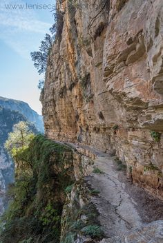 Cliff Hanging Trail of Agia Paraskevi in Monodendri, Greece