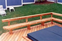 deck railing seating ideas | Try Designing Your Railing As A Built In Bench