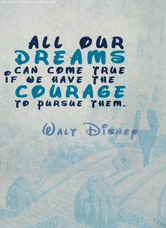 It's hard to believe that the worldwide Disney Corporation began with his dreams but it's true.