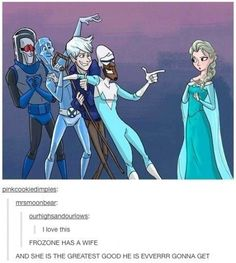 """""""Frozone has a wife... and she is the greatest goood he is everrr gonna get!"""""""