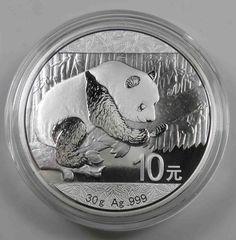 China 10 Yuan 2016 Panda Bär 30 gr. Silber in Kapsel Silver Ag