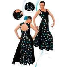 Traje flamenco de baile o trajes baile flamenco punto liso y crespón