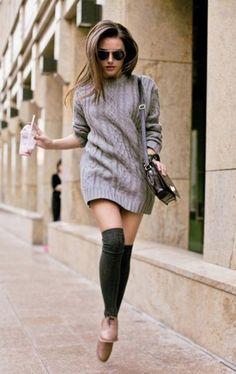 Noch nicht Sommer: wie ein Strickkleid gerade Silhouette in der Offseason tragen | Mode