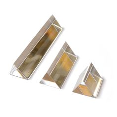 Equilateral Acrylic Prisms, Set of 3 - 25, 50, 100mm Lengths