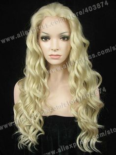 42.50$  Watch here - http://alis07.worldwells.pw/go.php?t=1183516914 - N6-16/1001# Light Ash Blonde Bright Color Long Water Wavy Synthetic Lace Front Drag Queen Wigs best sale