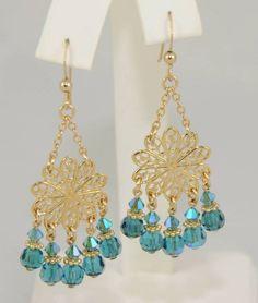 Teal Chandelier Earrings - http://chandeliertop.com/teal-chandelier-earrings/