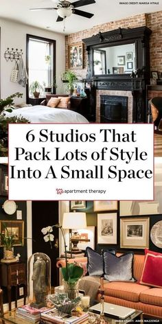 The small-space dwellers in these six studio apartments are happily living a maximalist decor style despite their home's small square footage.   #maximalist #maximalistdecor #smallspaces #smallspacedecor #smallspaceideas #smallspacehacks #studioapartment #apartmentdecor #apartmentdecoratingideas #decoratingideas