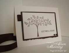 Stampin' Up! Thoughts & Prayers, Sympathy Card