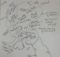 This person definitely knows some things about Scotland and really wanted to let you know all of the things about Scotland that they know. | This Is What Happens When English People Try To Draw Scotland