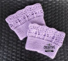 Icy Trellis Boot Cuffs - Free Crochet Pattern at Creative Threads by Leah.