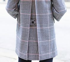 Pink and Navy Glen Plaid Coat and Pale Pink CableknitMEMORANDUM, formerly The Classy Cubicle