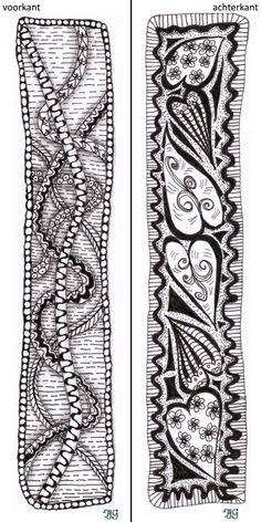bladwijzer 7 Zentangle, Bookmarks, Alexander Mcqueen Scarf, Accessories, Fashion, Moda, Zentangle Patterns, Fashion Styles, Marque Page