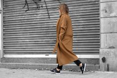 afterDRK, long trench, Nike Free Runs