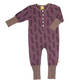 Purple Pukeko Organic Romper - Infant #zulily #zulilyfinds