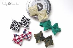Each baby bow tie comes in a 100% recyclable can. Use our containers for food storage, office organization or to make your own candle. Help save our earth while your dapper little looks fashionable in our fall 2013 collection. www.babybowtie.com