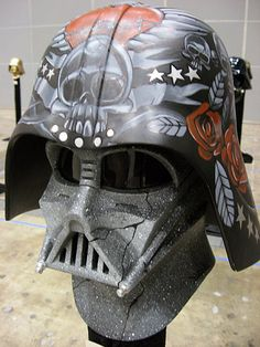 The Vader Project is an exposition of 100 Darth Vader helmets customised by different artists.