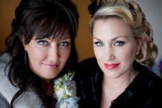 Matt Shumate Photography at Schweitzer Mountain winter wedding mother and daughter portrait mother of the bride