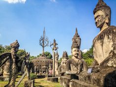 The Quirky Buddha Park in Vientiane, Laos: A Photo Essay Laos Travel, Thailand Travel, Asia Travel, Manhattan Times Square, Lower Manhattan, Liberty New York, Vientiane, Fun World, Mysterious Places