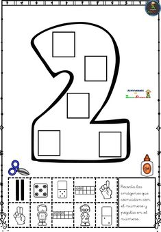 Conocemos las diferentes formas de representación de los números - Imagenes Educativas Numbers Preschool, Preschool Math, Preschool Worksheets, Kindergarten Math, Toddler Learning Activities, Preschool Activities, Math Coloring Worksheets, Toddler Teacher, Teaching Shapes