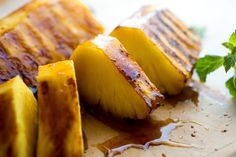 Grilled Vanilla Ginger Pineapple Recipe: This wold be amazing alone or in yonanas!