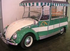 VW Beetle Tourbus. Used by Volkswagen for their tours around the Autostadt and factory in Wolfsburg, Germany.
