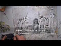 'Secret Garden' step by step scrapbooking page for Blue Fern Studios