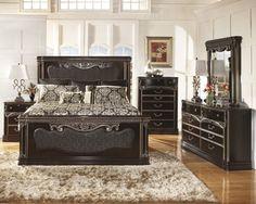 King Bedroom Sets Black nebraska furniture mart – ashley 5-piece shay king bedroom set