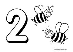 2 numbers coloring pages for kids printable free digits coloring books