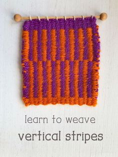 Weaving vertical stripes is easy! The secret is in the edges. it's also known as pick and pick weaving. #weaving #learntoweave