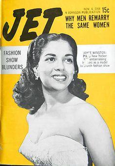 Joyce Winston on the cover of Jet Magazine November 4, 1954