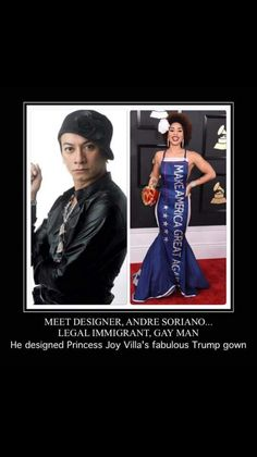 And here the liberals are bashing her and her designer. Not very 'tolerant' are they...