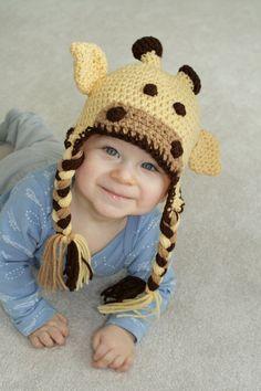 The Crochet Barn  Giraffe Hat
