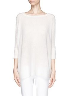 VINCEEyelet knit cashmere sweater