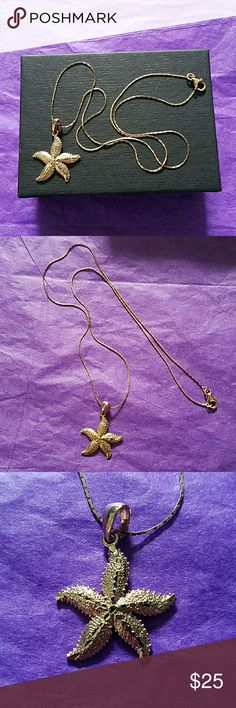 """Rose Gold Starfish 18"""" Necklace In EUC, like new only wore it once. The necklace is 18"""" & the starfish 1""""x1"""". MSRP $45 ( $17 is the final price on this) TJMaxx Jewelry Necklaces"""
