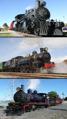 Lumberjack Steam Train; New Zealand (Kiwi Rail); Queensland Pioneer Steam Railway.