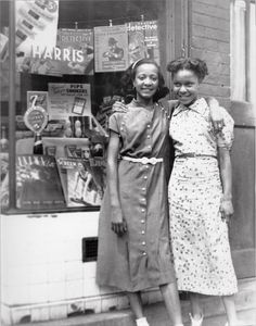 "MY BFF…BEST FRIENDS FOREVER | 1940s Charles ""Teenie"" Harris, photographer. Teenie Harris Photograph Collection, 1920-1970, Carnegie Museum of Art, Pittsburgh, PA.Black History Album: The Way We Were. African American Vernacular Photography, Blackhistoryalbum.com."