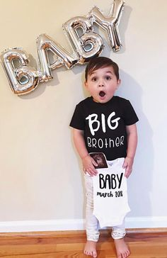 Rose Gold Big Brother Toddler T-Shirt Printed Gift Top Pregnancy Reveal Boys